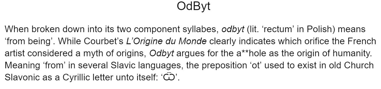 Odbyt text