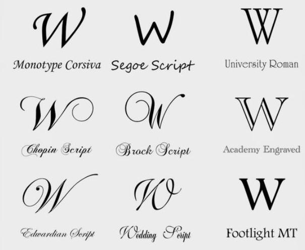 W fonts